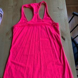 Lululemon neon pink tank - long version